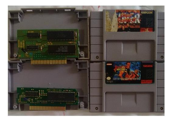 Jogos Super Nintendo Snes Art Of Fighting Street Fighter 2
