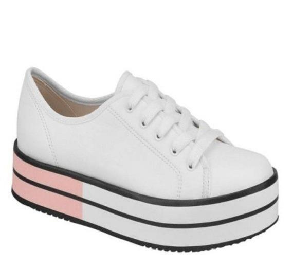 Tênis Feminino Plataforma Oxford Lançamento Sapato Salto