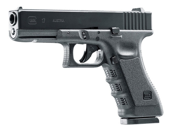 Glock 17 Con Estuche Co2 Blowback Postas 4.5mm Acero Tiro
