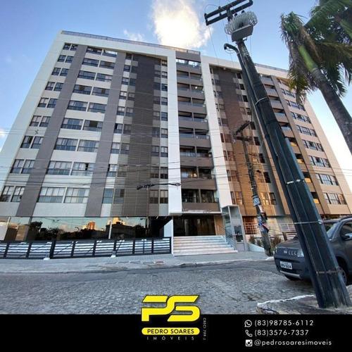 Apartamento Com 2 Dormitórios, 60 M² - Venda Por R$ 398.000,00 Ou Aluguel Por R$ 2.500,00/mês - Manaíra - João Pessoa/pb - Ap3686