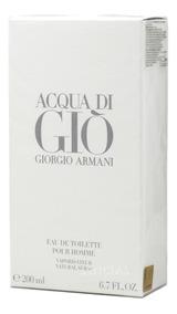 Acqua Di Gio 200ml Pour Homme Perfume Masculino Edt Original