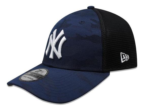 Gorra New Era 39 Thirty Mlb Yankees Camo Front Azul Marino