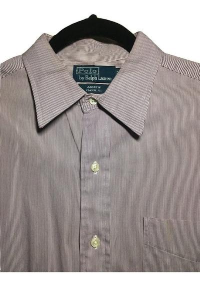 Camisa De Rayas Lila Polo Ralph Lauren Original. Nextaporter