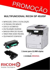Multifuncional Ricoh Sp 4510sf + Toner Reserva
