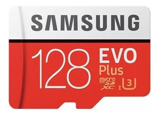 Cartão de memória Samsung MB-MC128GA/APC Evo Plus com adaptador SD 128GB