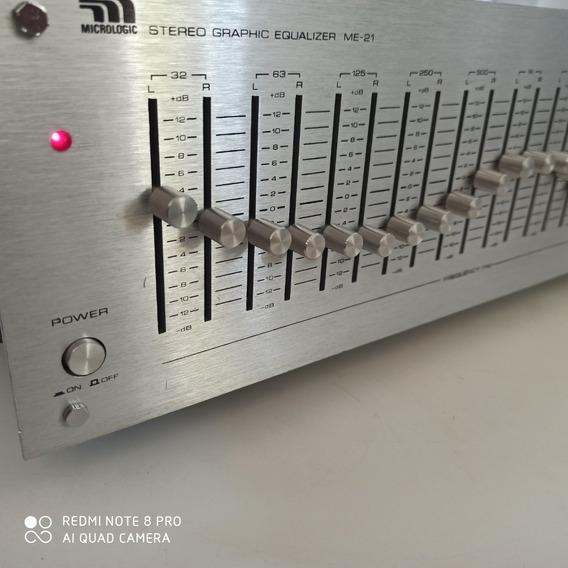 Equalizador Micrologic Me-21 Stereo Graphic Profissional