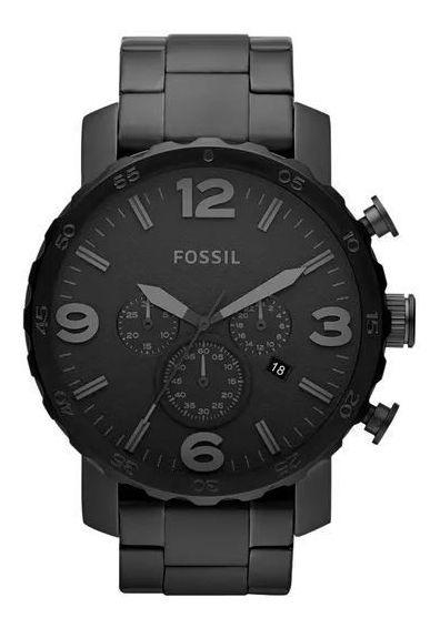 Relógio Fossil Nate Preto Masculino Jr1401/4pn
