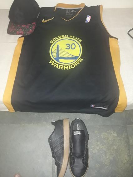 Tênis Original adidas +camisa De Basquete + Boné