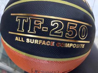 Balon Deporte Baloncesto Original Spalding Tf 250 En Cuero