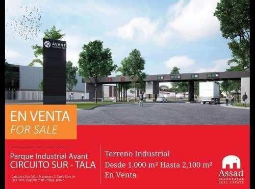 Terrenos Industriales En Venta - Circuito Metropolitano Sur Tala / Tlajomulco - Parque Industrial Avant - Desde 1000 Hasta 2100 M2