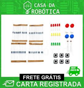 Kit Eletrônica: Resistor 220ohms 1k 10k 100k Botões Led Ldr