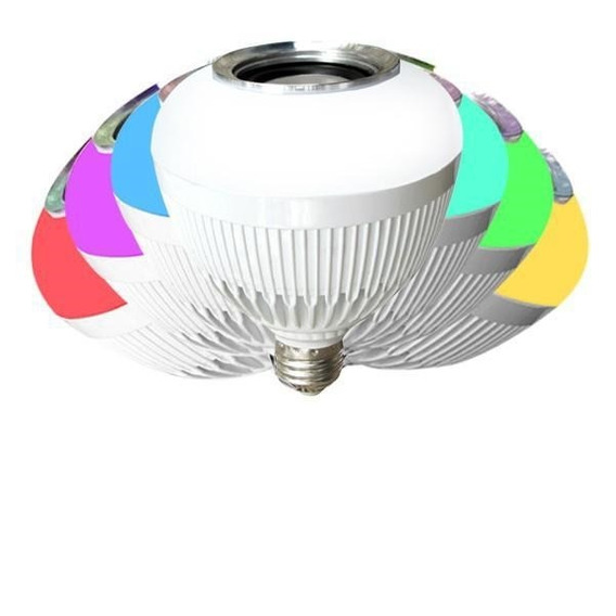 Caixa De Som Bluetooth Lâmpada Multi Led