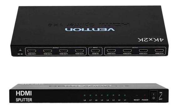 Splitter Hdmi 1x8 Salidas 1080p 2k 4k Amplificador C/fuente