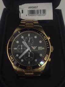 Relógio Empório Armani Ar5857 Dourado (gold Original)