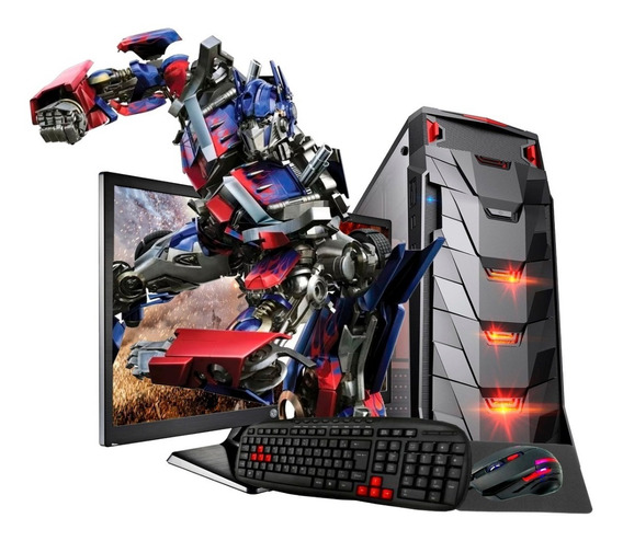 Pc Gamer 7480 8gb Ssd Radeon R5 Tela 19,5 Kit Gamer Novo!