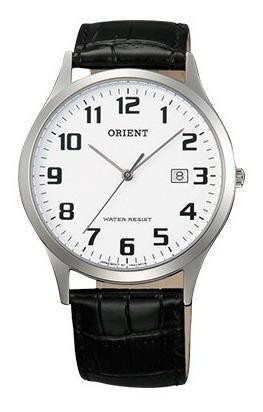 Relógio Orient Quartz Modelo Una1004w 38mm Pulseira Couro