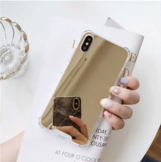 Funda Tipo Espejo Y Silicon Para iPhone
