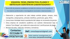 Desarrollo De Complexivos, Tesis, Ensayos, Artículos, 2018!!