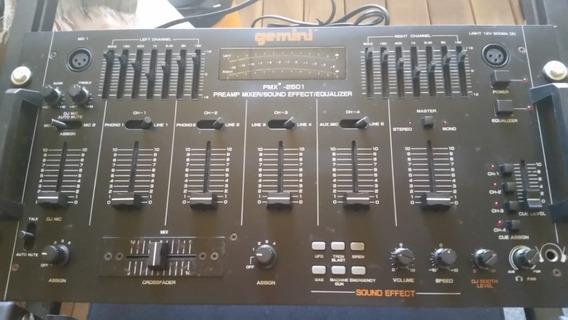 Mixer Gemini 2501 (pré Amp, Equalizador E Mixer)