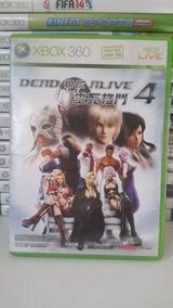 Dead Or Alive 4 Xbox 360 Original Ntsc-j Japonês Frete R$ 12