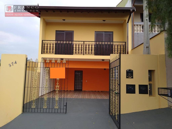 Casa Com 2 Dormitórios Para Alugar Por R$ 1.800/mês - Jardim Novo Mundo - Valinhos/sp - Ca0570