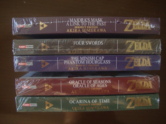 Mangá The Legend Of Zelda Completo 5 Volumes Lacrados Panini