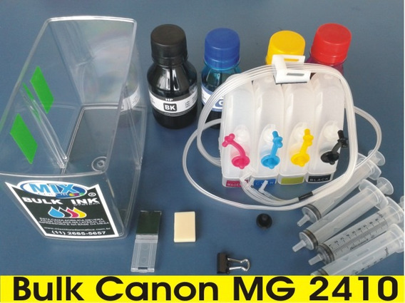 Tanque Bulk Ink Canon Mg2410+ 200ml Tinta +reservatório+cd