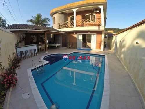 Casa Com 5 Dormitórios À Venda, 450 M² Por R$ 1.300.000,00 - Balneario Praia Do Perequê - Guarujá/sp - Ca0232