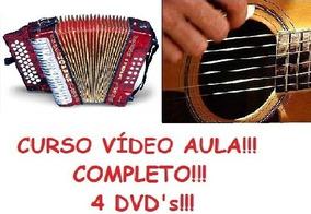 Aulas De Acordeon + Violão, Curso Em 4 Dvds Tgba