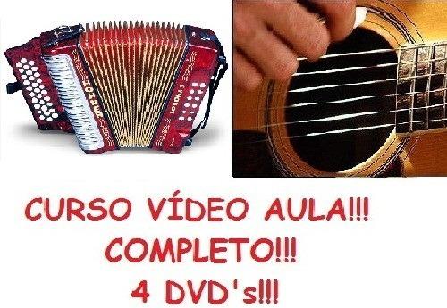 Aulas De Acordeon + Violão Curso Em 4 Dvds Wsx