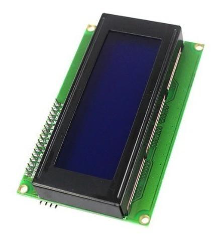 Display Lcd 20×4 2004 I2c Iic Backlight Azul Arduino Pic Esp