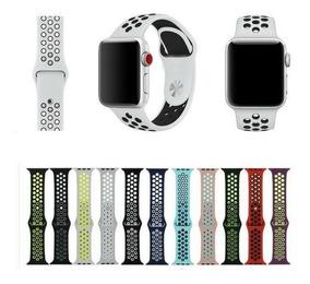 Pulseira Silicone Furo Nike Para Apple Watch 38/42mm