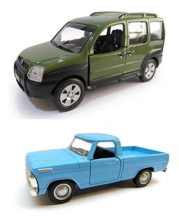 Kit 2 Miniaturas De Metal Carros Nacionais A Sua Escolha