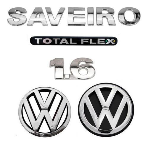 Kit Emblemas Saveiro 1.6 Flex - G4 Geracao 4 - 2006 A 2010