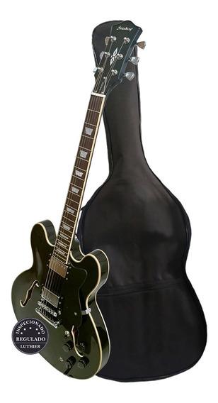 Guitarra Semi Acústica Strinberg Shs300 Bk Com Capa Promoção