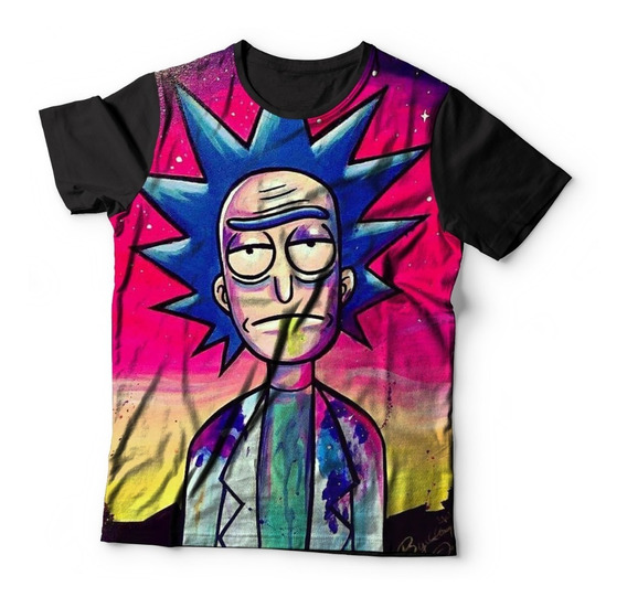 Camiseta Baby Look Full Print Rick And Morthy Serie Ref:47
