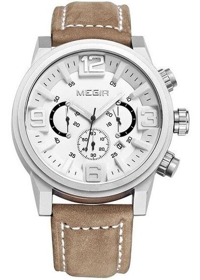 Relógio Masculino Megir 3010 Cronográfo Original