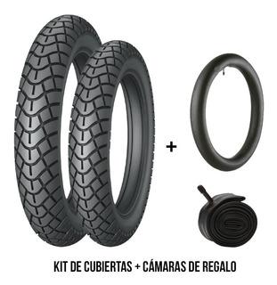Kit Combo Cubierta Drook 250-17 + 80/100-14 + Camaras De Reg