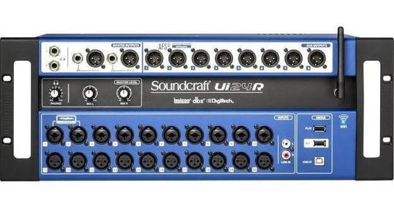 Mesa De Som Soundcraft Ui24r Pronta Entrega