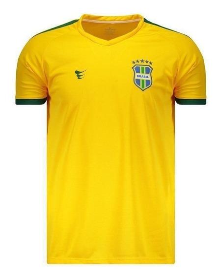 Camisa Super Bolla Brasil Pro 2018 Amarela