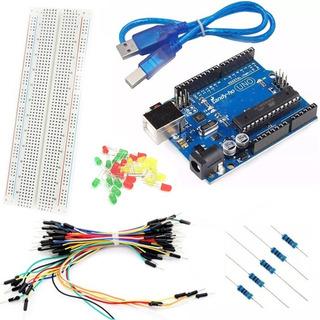Kit Arduino Uno Semaforo De Leds Principiantes Candy-ho