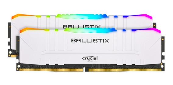 Memoria Crucial Ballistix 16gb Ddr4 3200 Rgb Blanco Mexx 3
