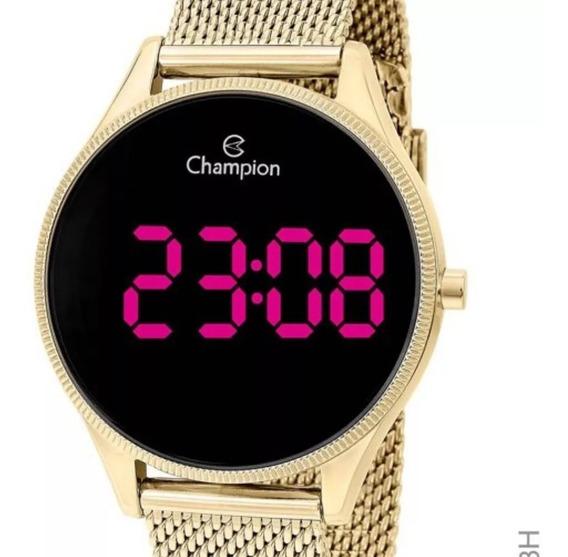 Relógio Feminino Dourado Ouro 18k Champion A Prova D