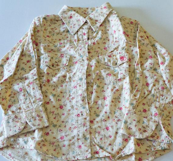 Camisa Paula Cahen Danvers Floreada M/larga Talle 4