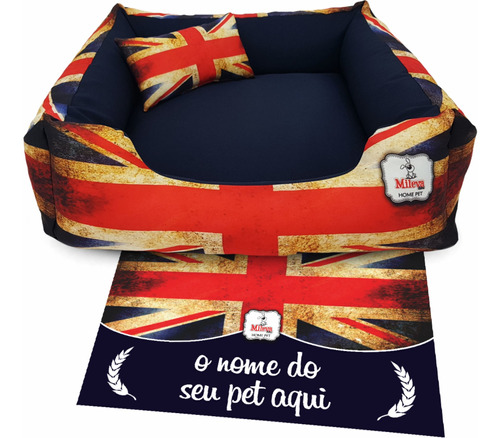 Cama P/ Cachorro Gato Tam 70x70 + Jogo Americano Pet 33x50