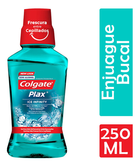 Colgate Plax Enjuague Bucal Ice Infinity Zero Alcohol 250 Ml