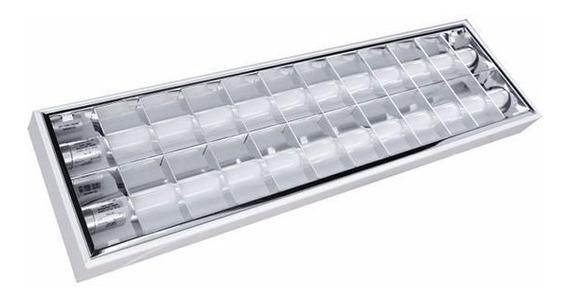 Luminária Calha Comercial Alto Rendimento Completa 60cm