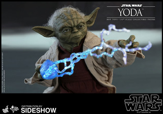 Hot Toys Yoda Ep Ii:attack Of The Clones Star Wars 1/6 Scale