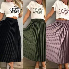 5660893146 Faldas Plizadas Importadas De Pliegues Para Mujer Nuevas