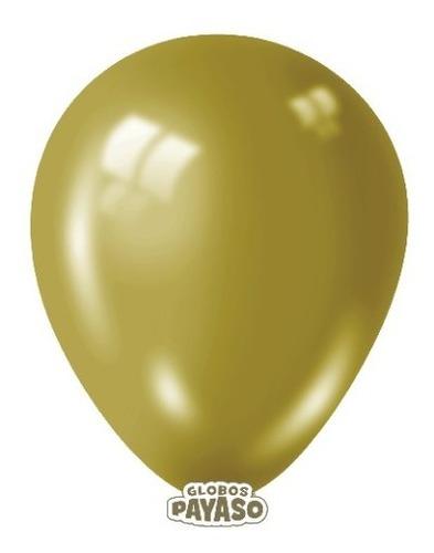 Globos  R-9 Color Metal Oro 12 Unidades